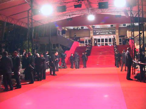 Röda mattan i Cannes..